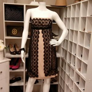 $358 TRINA TURK LACE & SILK SHEATH DRESS 6